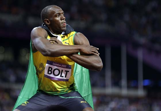 Bolt may have a huge ego on race day, but he is where he is because of the hard work he has put into his training.
